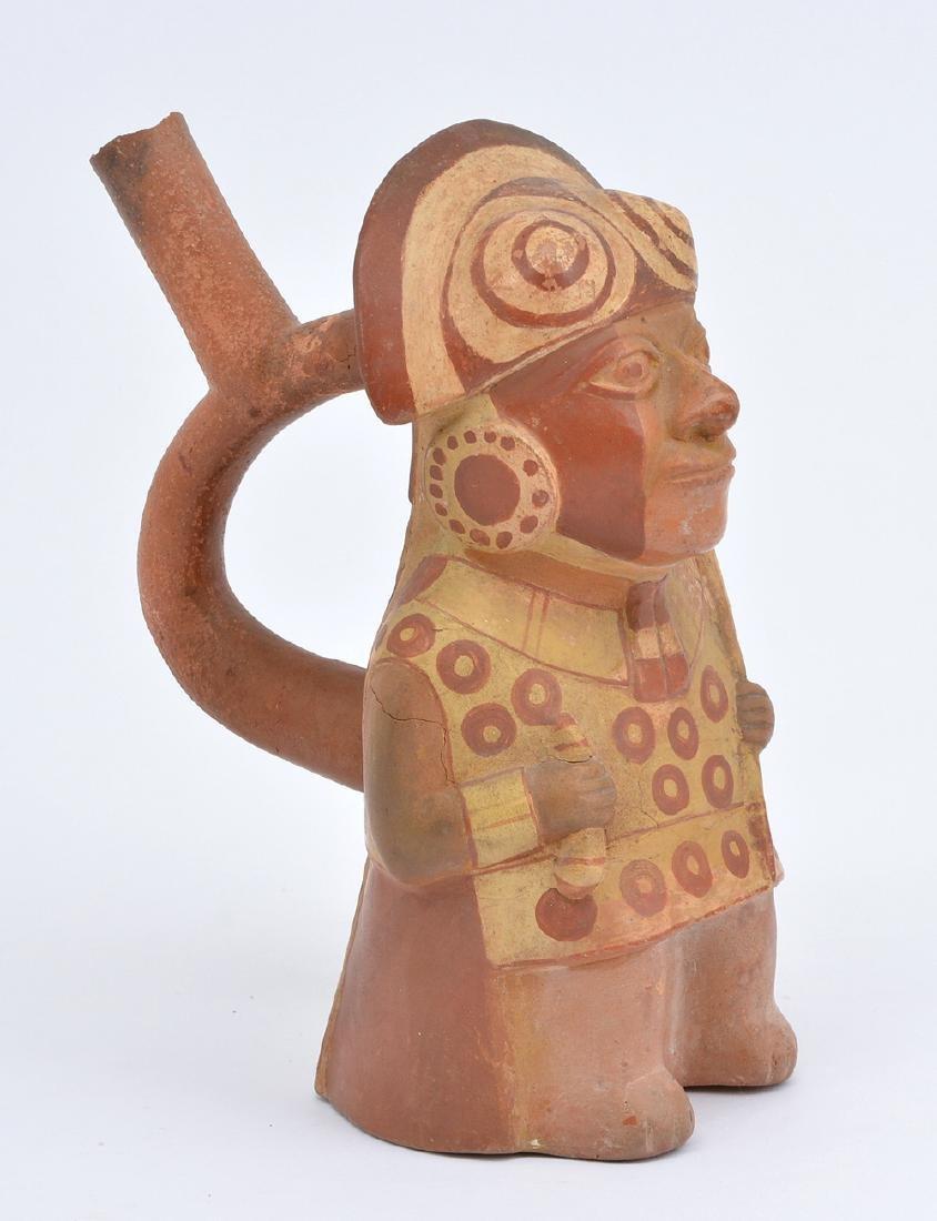 """Moche figural vessel, 9"""" - 2"""
