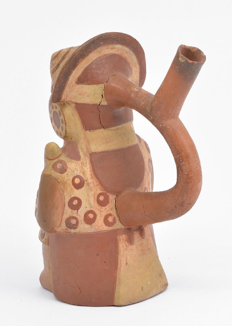 """Moche figural vessel, 9"""" - 3"""