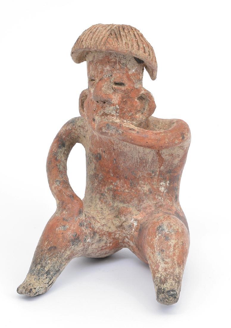 Pre-Columbian Peru Mochica Figural Seated Vessel