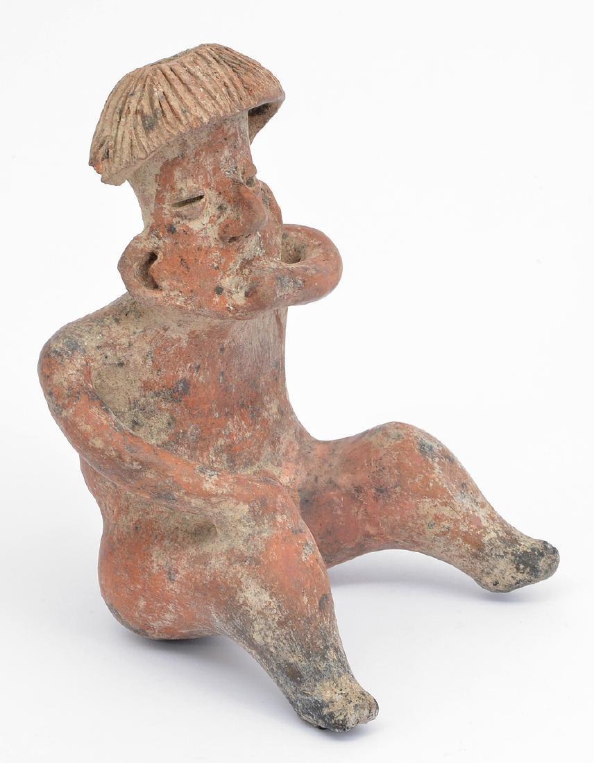 Pre-Columbian Peru Mochica Figural Seated Vessel - 2