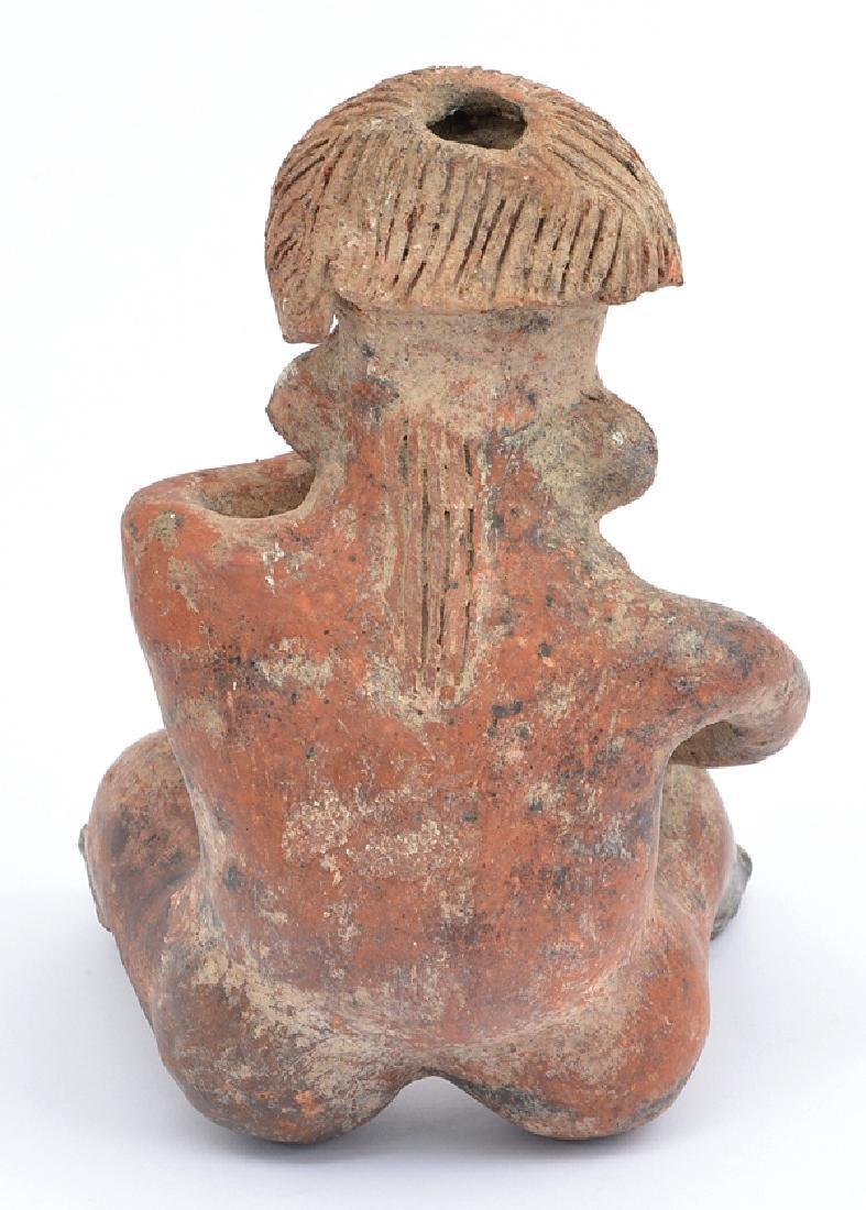 Pre-Columbian Peru Mochica Figural Seated Vessel - 3