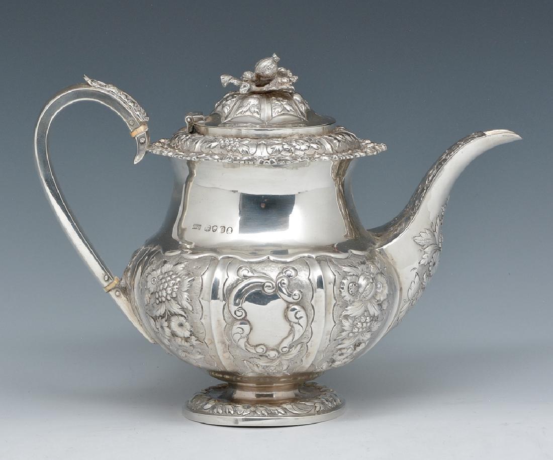 English, Georgian, London Sterling Silver Teapot