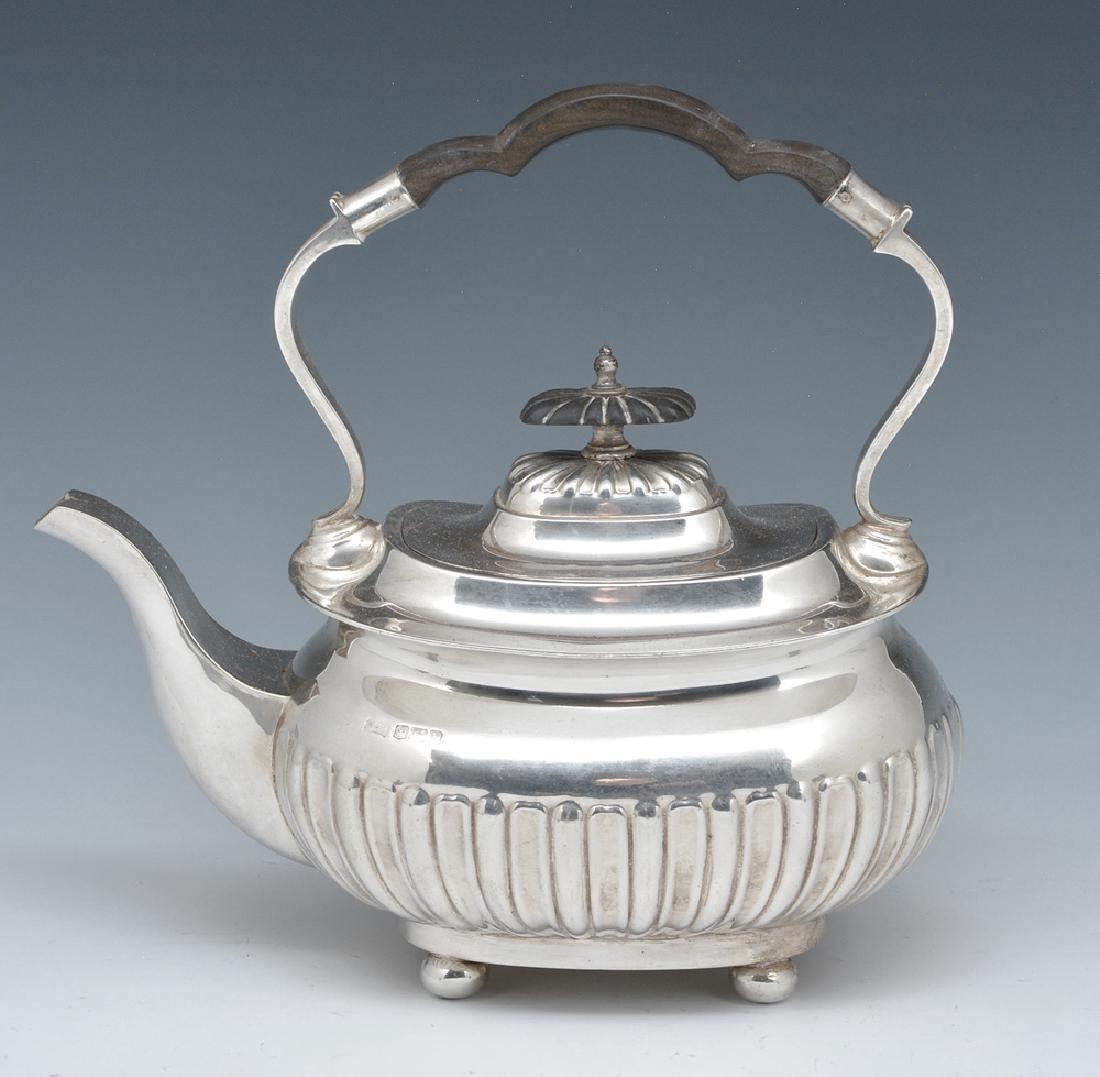 Sterling teapot, Walker & Hall, 1825