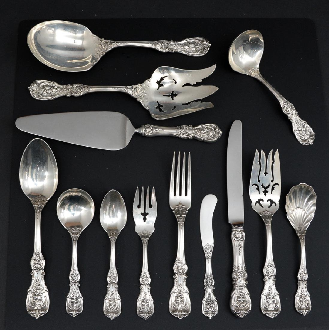 "Reed & Barton sterling flatware, ""Francis 1st"" for 12"