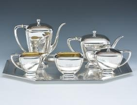6 Pc sterling coffee and tea set, Whiting, 1915