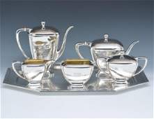 6 Pc sterling coffee and tea set Whiting 1915