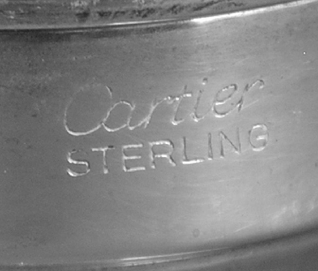 Pair of Cartier sterling silver salt and pepper - 2