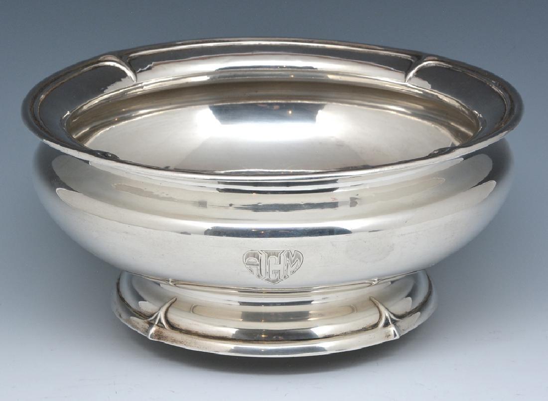 Sterling art nouveau bowl, Durgin