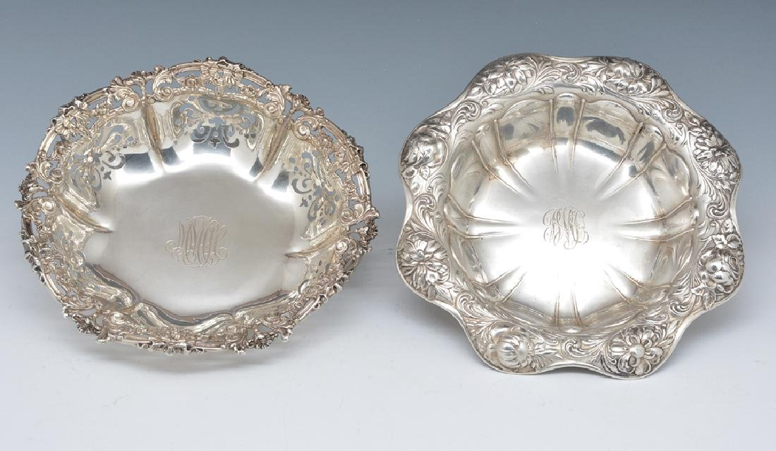2 Gorham sterling repousse bowls