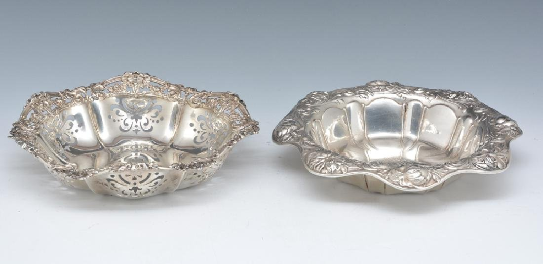 2 Gorham sterling repousse bowls - 2