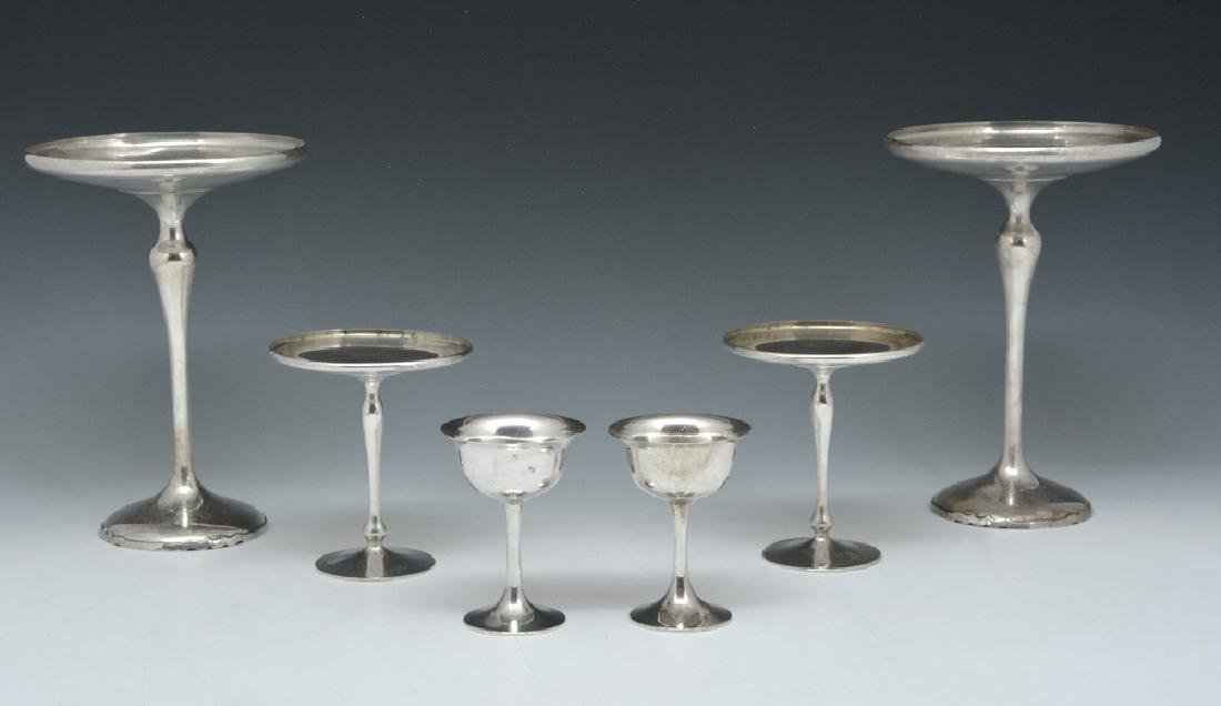 6 Pcs Shreve sterling: compotes and goblets