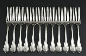 12 Towle sterling silver forks