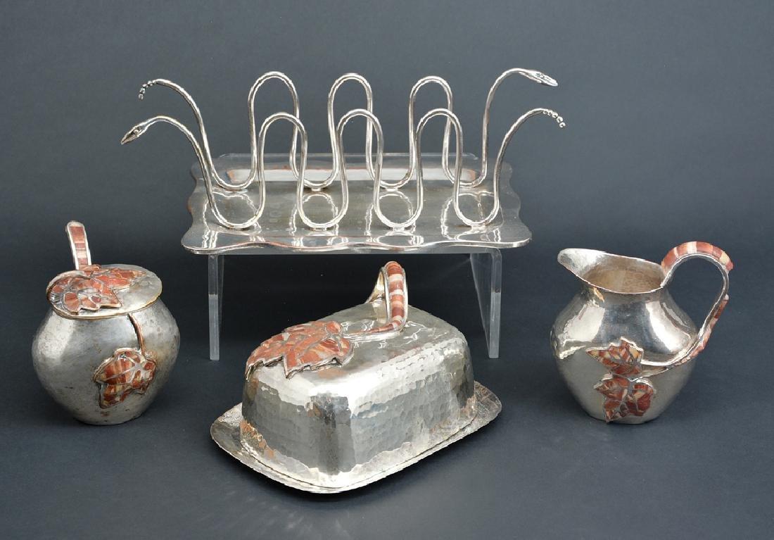 Mexican silverplate table accessories, Castillo, Taxco