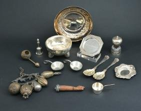 14 pcs Silverplated table accesories