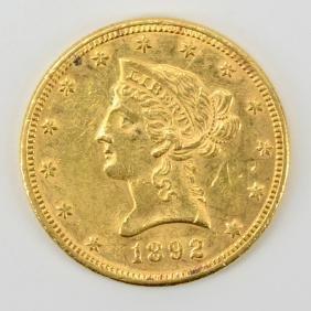 Ten dollar gold liberty head coin