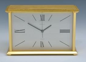 Vintage Tiffany & Co brass clock in original box