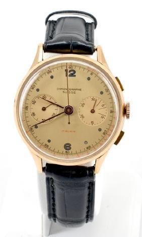 "18k Gold ""chronographe Suisse"" Watch"