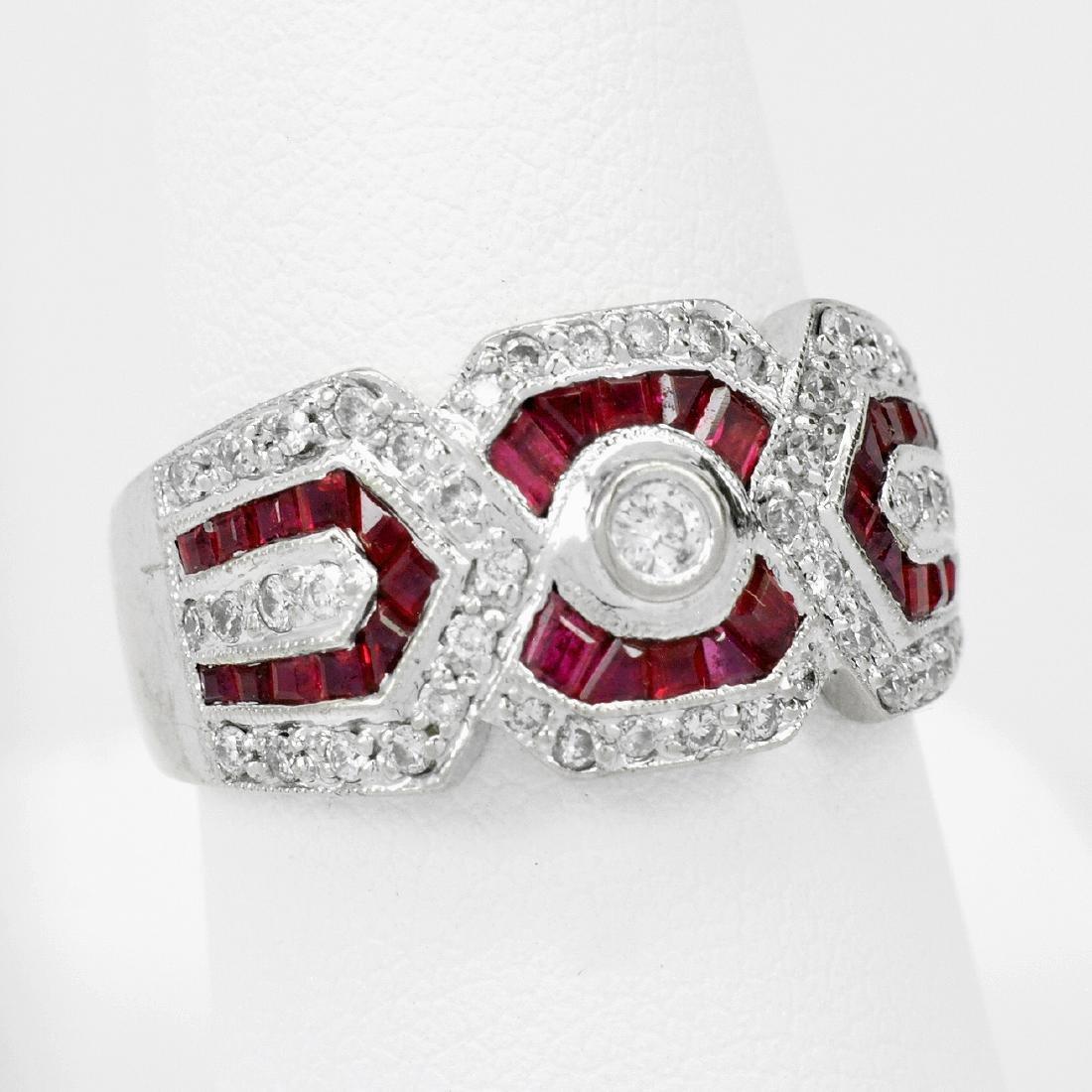 18k Gold Ruby & Diamond Ring