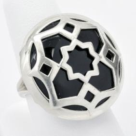 Tiffany & Co. Sterling & Black Onyx Ring