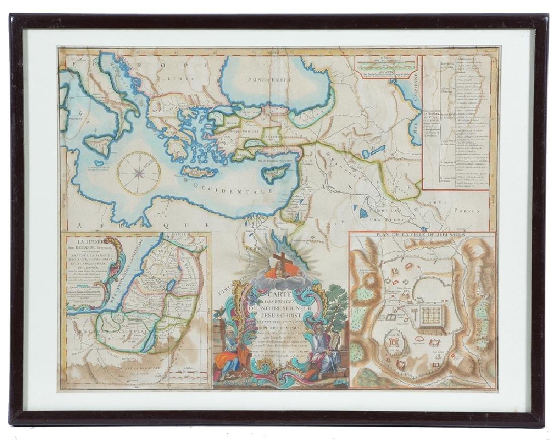 Carte Des Voyages Jesus Christ, Map, 1747