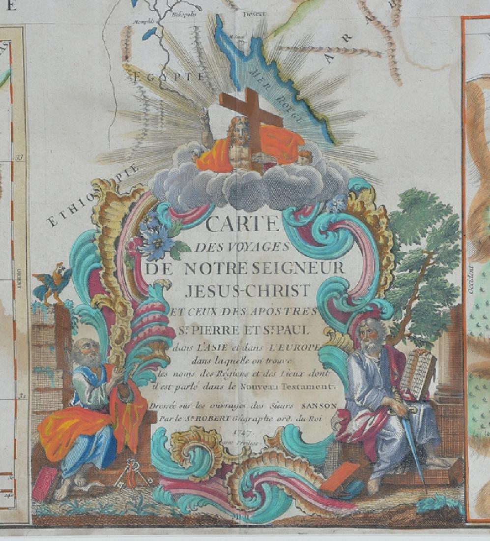 Carte Des Voyages Jesus Christ, Map, 1747 - 2
