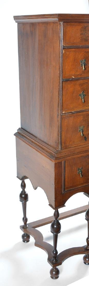 William & Mary chest on stand - 3
