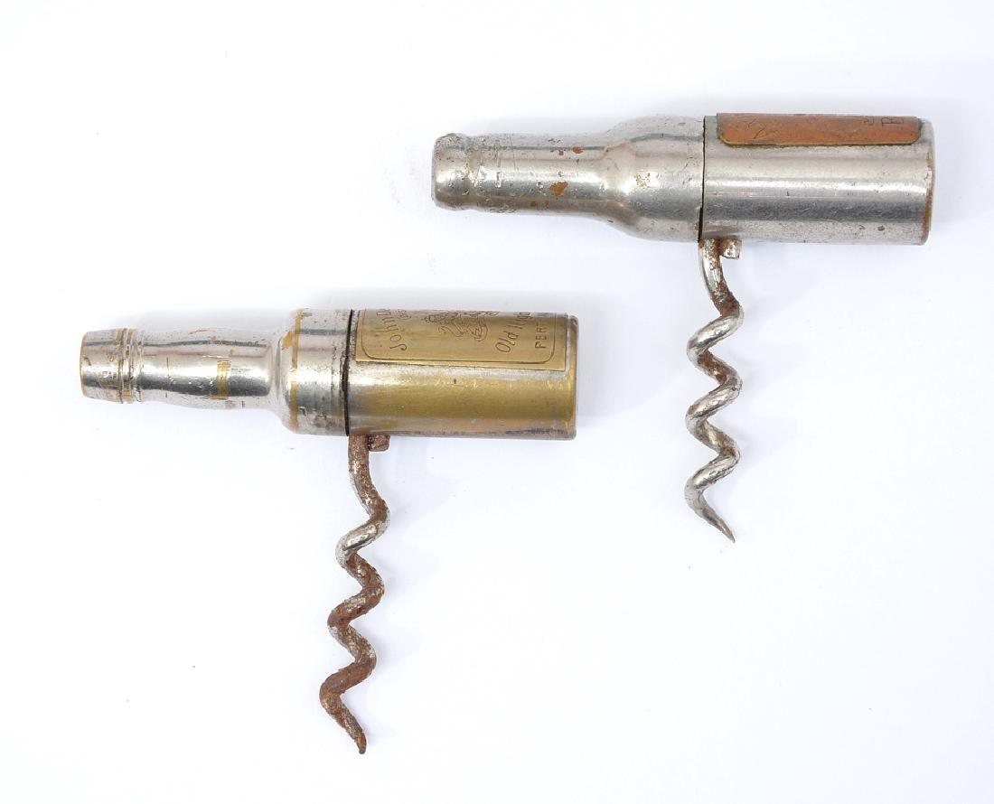 2 Bottle form corkscrews, John Dewars and Anheuser Bush - 2