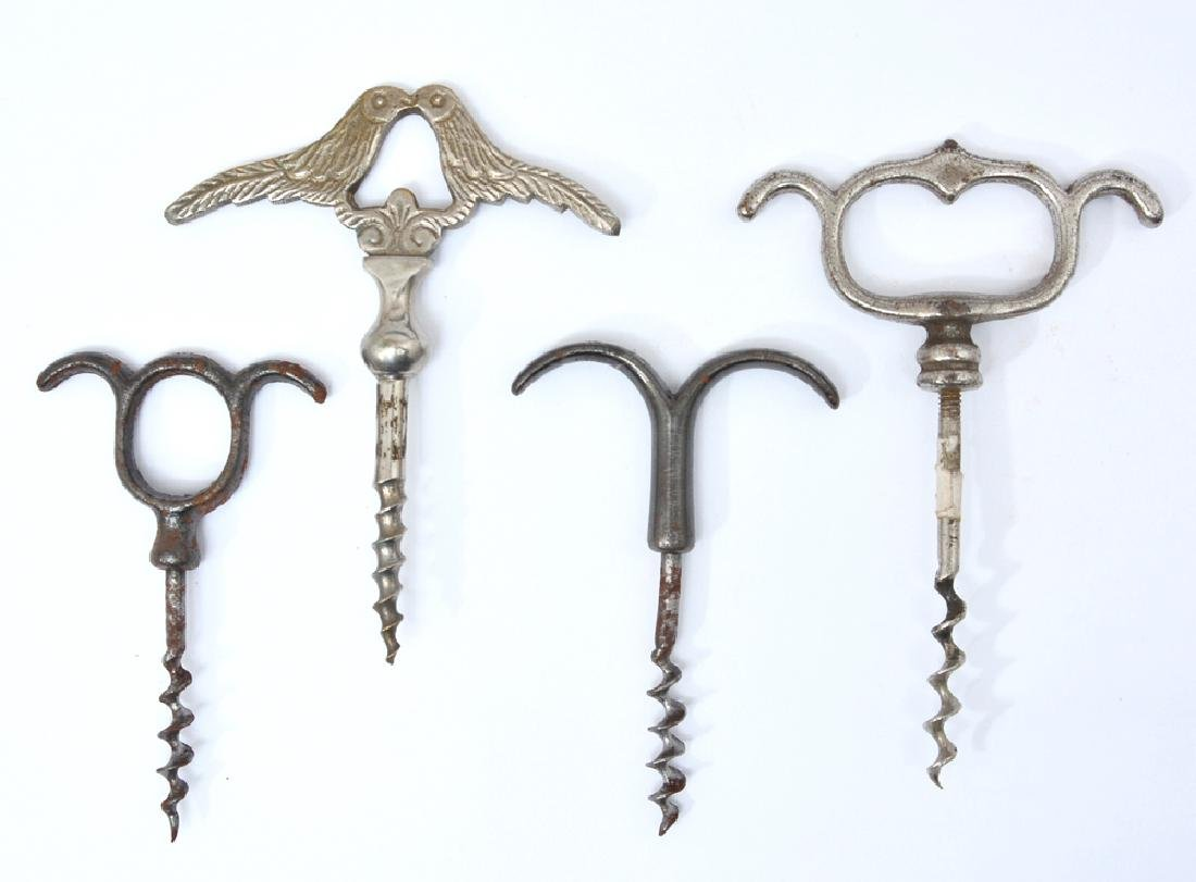 4 double eyebrow corkscrews
