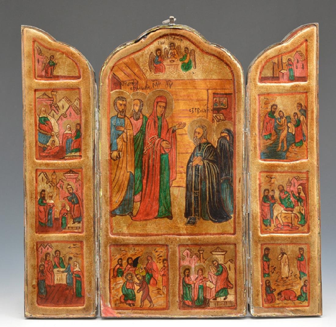 Triptych Icon, Eastern European