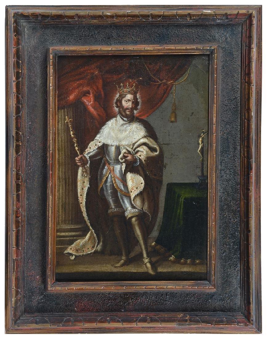 French school, King Hugh Capet (940-996), 17th/18th c