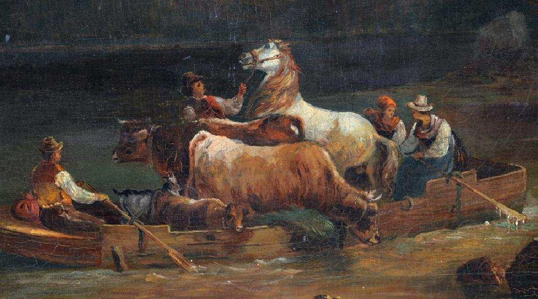 Carl V. Andlau, Fording an Alpine River, 19th c - 4