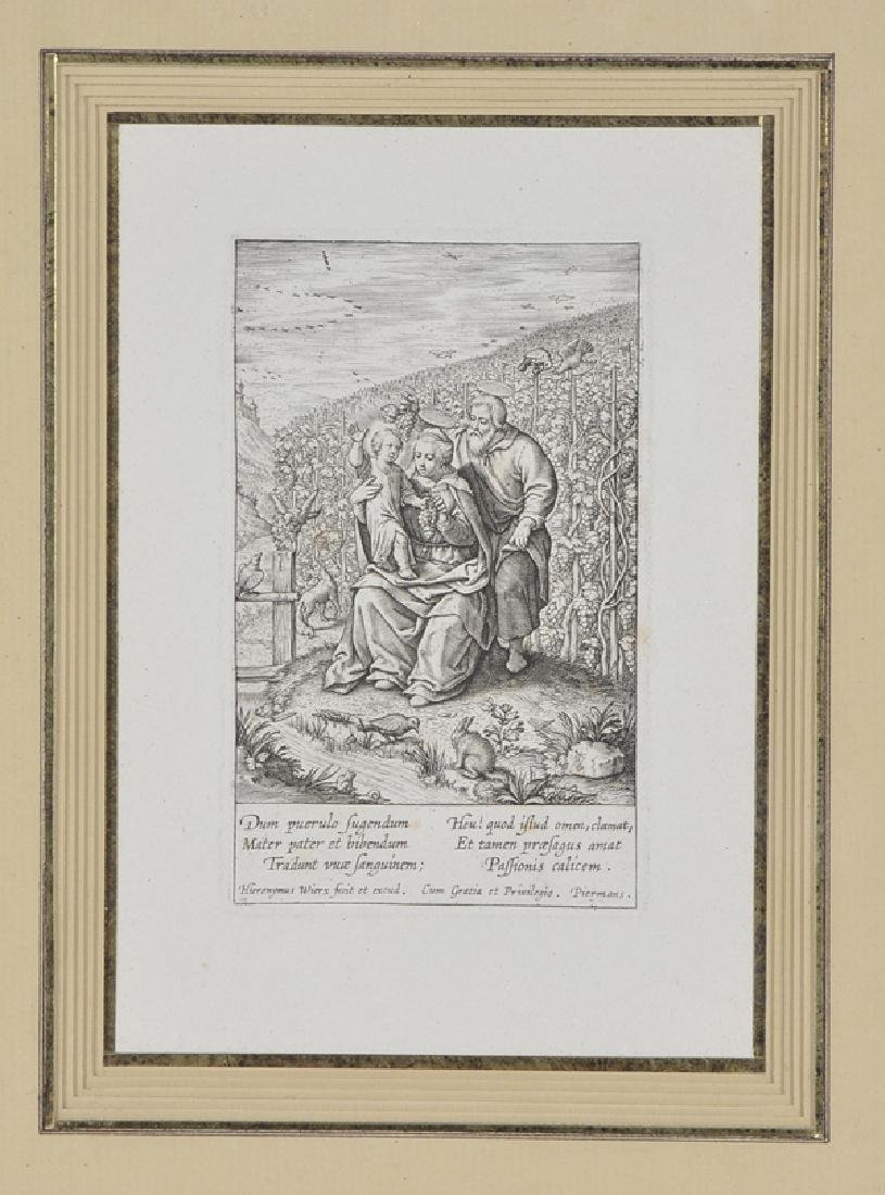 The Holy family in the vineyard, Engraving - 2
