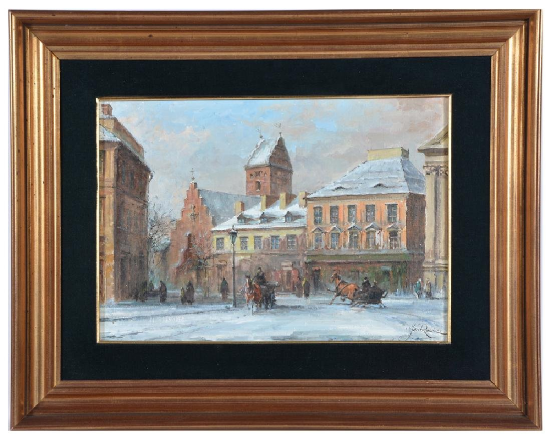 Jan Rawicz, Budapest, Oil on Canvas
