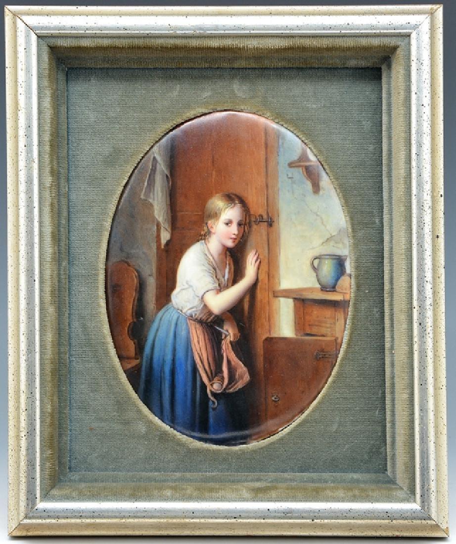 Meyer von Bremen (after) painting on porcelain