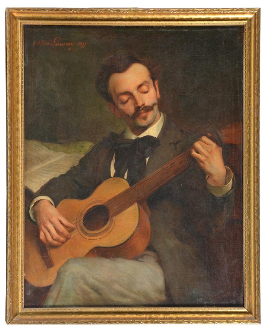 Albert Launay, Portrait of a Musician, oil on canvas