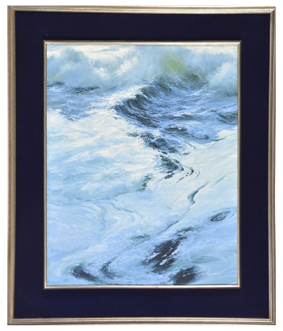 """E. John Robinson, """"The Foamy Surf"""", oil on canvas"""