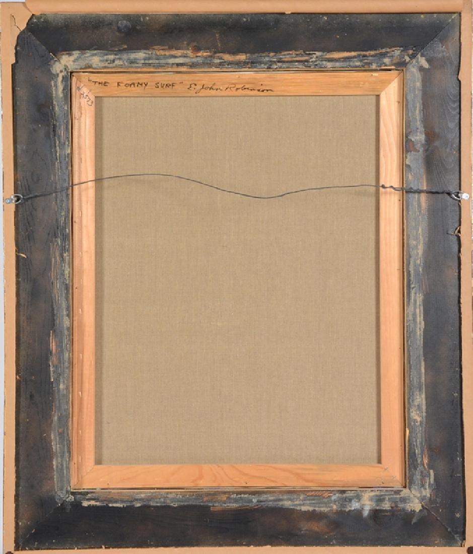 """E. John Robinson, """"The Foamy Surf"""", oil on canvas - 2"""