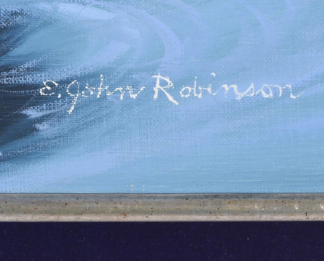 """E. John Robinson, """"The Foamy Surf"""", oil on canvas - 4"""
