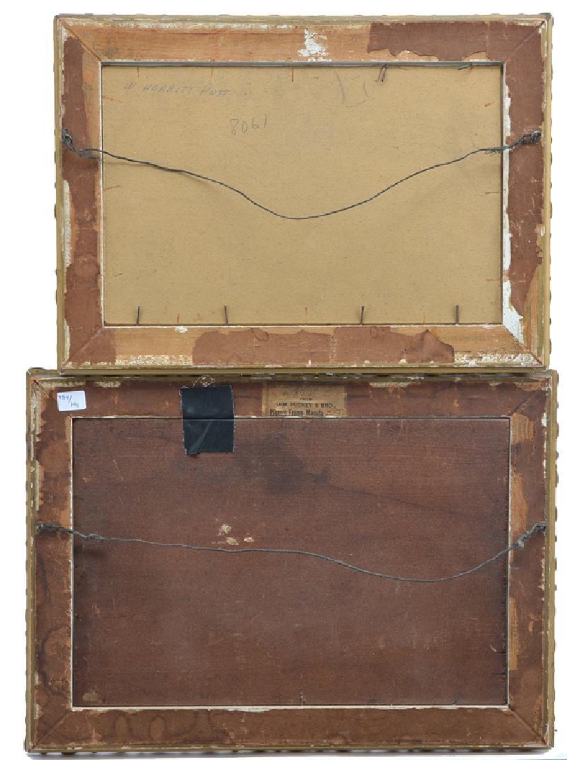 William Merritt Post, 2 landscapes, oils on boards - 4