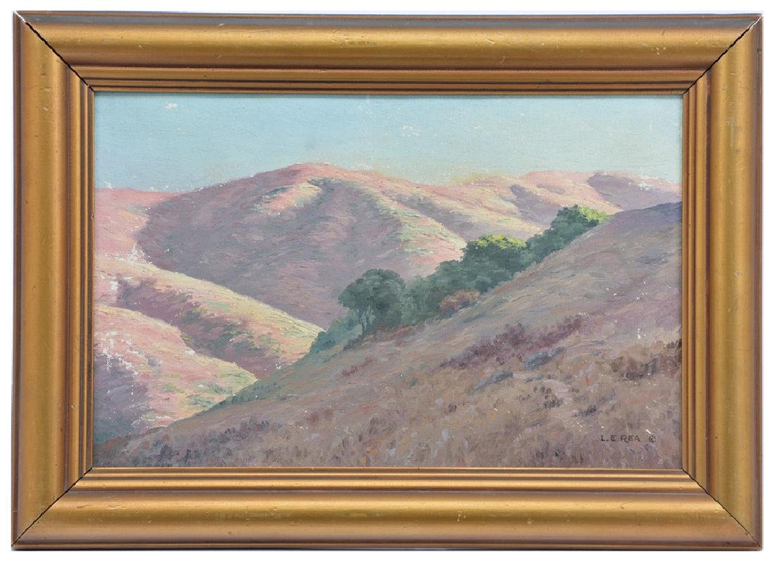 "Louis Edward Rea, ""Marin County Hills"", oil on canvas"