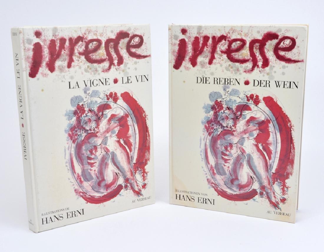 Two books: Ivrese La Vigne La Vin/ Die Reben Der Wein