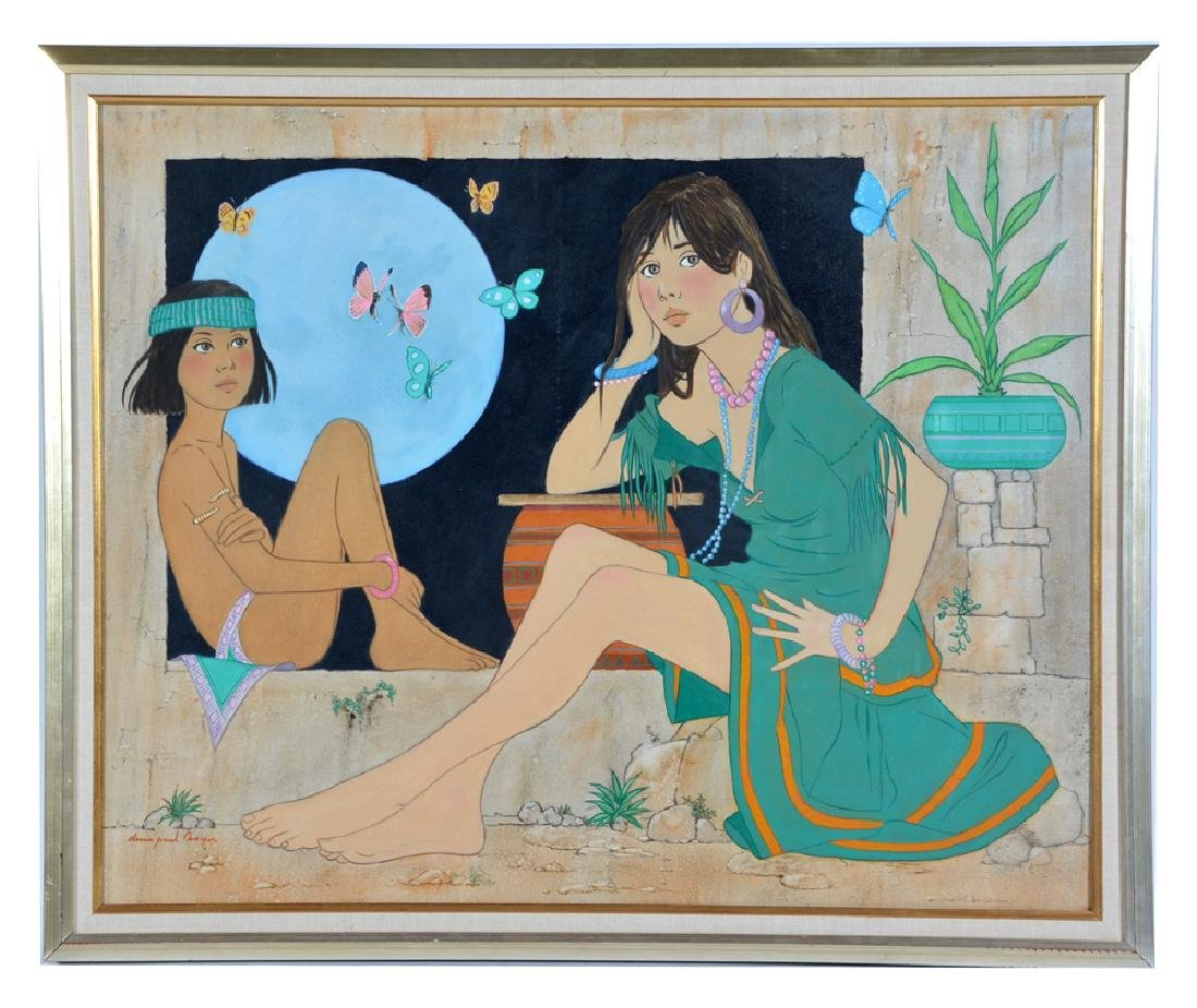 Denis Paul Noyer, Blue Moon, oil on canvas