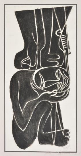 Eric Schug, abstract figures, print