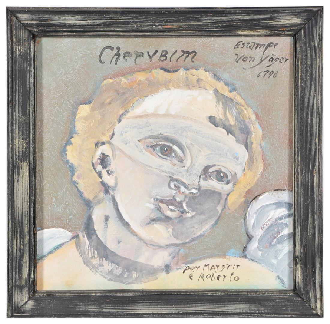 Ira Yeager, Cherubim, Oil/Canvas