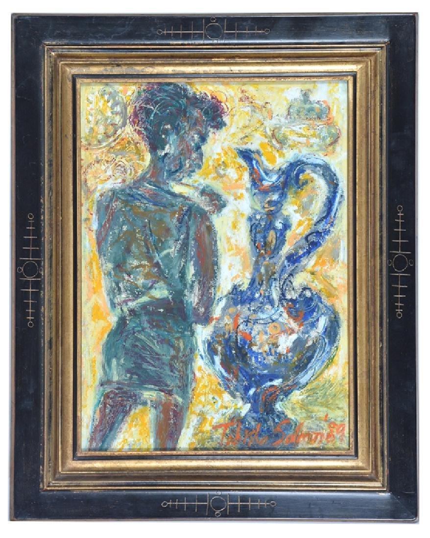 Tabitha Salmon '89, Female Figure with Ewer, Acrylic