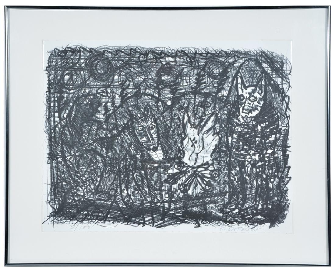 Roy De Forest, Dogs, Lithograph