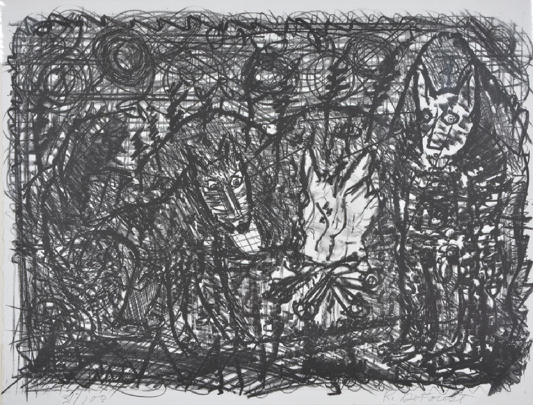 Roy De Forest, Dogs, Lithograph - 4