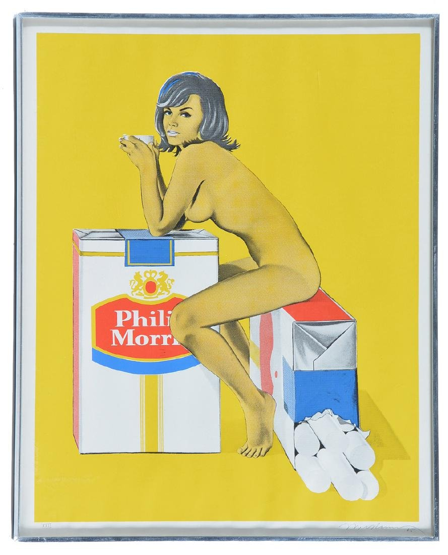 Mel Ramos, Philip Morris, color screenprint