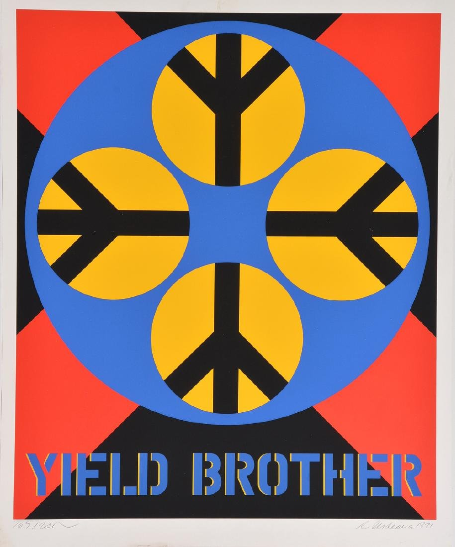 Robert Indiana, Yield Brother, color screenprint