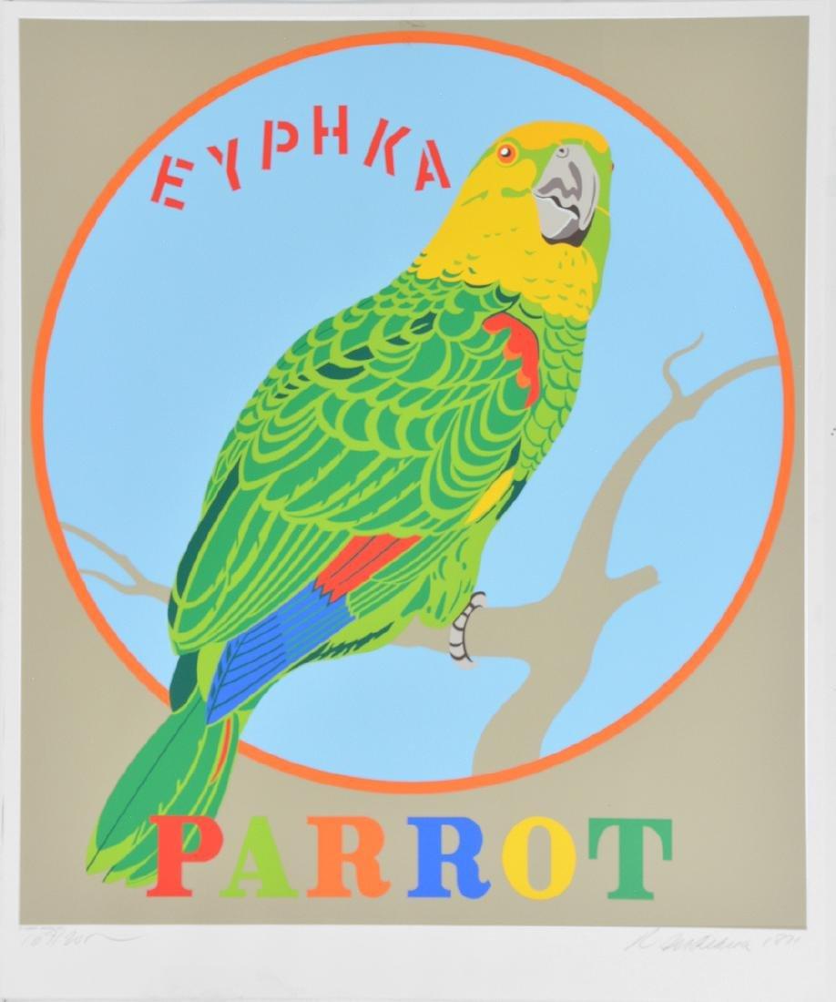 Robert Indiana, Parrot, color screenprint